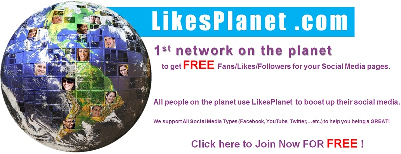 Join LikesPlanet and Get Likes/Followers/Fans for Free!